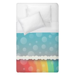 Rainbow Background Border Colorful Duvet Cover (single Size) by Amaryn4rt