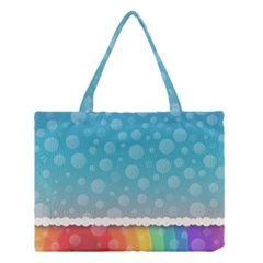 Rainbow Background Border Colorful Medium Tote Bag by Amaryn4rt
