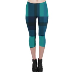 Boxes Abstractly Capri Leggings  by Amaryn4rt