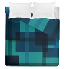 Boxes Abstractly Duvet Cover Double Side (queen Size) by Amaryn4rt