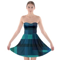Boxes Abstractly Strapless Bra Top Dress by Amaryn4rt