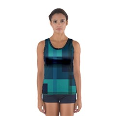 Boxes Abstractly Women s Sport Tank Top  by Amaryn4rt