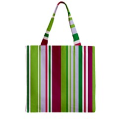 Beautiful Multi Colored Bright Stripes Pattern Wallpaper Background Zipper Grocery Tote Bag by Amaryn4rt