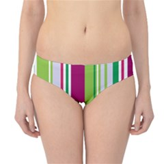 Beautiful Multi Colored Bright Stripes Pattern Wallpaper Background Hipster Bikini Bottoms by Amaryn4rt