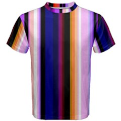 Fun Striped Background Design Pattern Men s Cotton Tee
