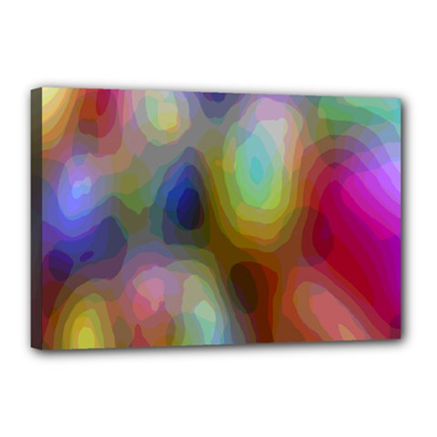 A Mix Of Colors In An Abstract Blend For A Background Canvas 18  X 12  by Amaryn4rt