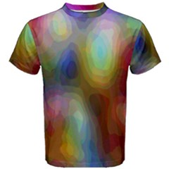 A Mix Of Colors In An Abstract Blend For A Background Men s Cotton Tee