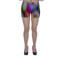 A Mix Of Colors In An Abstract Blend For A Background Skinny Shorts by Amaryn4rt