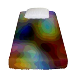 A Mix Of Colors In An Abstract Blend For A Background Fitted Sheet (single Size) by Amaryn4rt