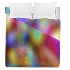 A Mix Of Colors In An Abstract Blend For A Background Duvet Cover Double Side (queen Size) by Amaryn4rt