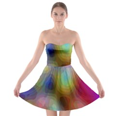 A Mix Of Colors In An Abstract Blend For A Background Strapless Bra Top Dress