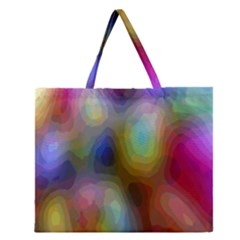 A Mix Of Colors In An Abstract Blend For A Background Zipper Large Tote Bag by Amaryn4rt