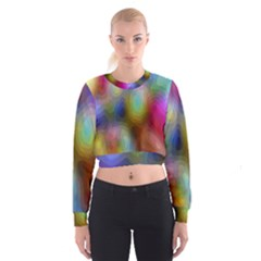 A Mix Of Colors In An Abstract Blend For A Background Women s Cropped Sweatshirt by Amaryn4rt