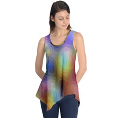 A Mix Of Colors In An Abstract Blend For A Background Sleeveless Tunic by Amaryn4rt