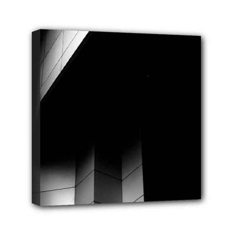 Wall White Black Abstract Mini Canvas 6  X 6  by Amaryn4rt