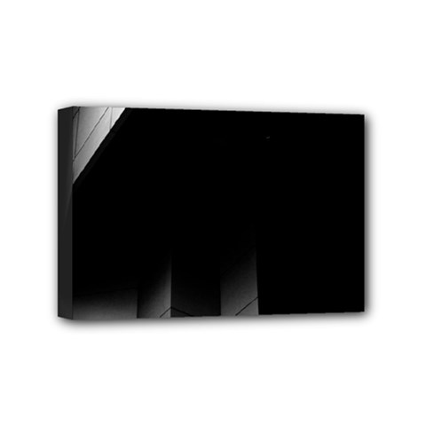Wall White Black Abstract Mini Canvas 6  X 4  by Amaryn4rt