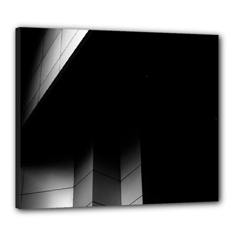 Wall White Black Abstract Canvas 24  X 20  by Amaryn4rt