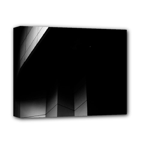 Wall White Black Abstract Deluxe Canvas 14  X 11  by Amaryn4rt