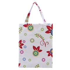 Colorful Floral Wallpaper Background Pattern Classic Tote Bag by Amaryn4rt