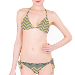 Abstract Vintage Lines Bikini Set by Amaryn4rt