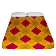 Plaid Pattern Fitted Sheet (king Size) by Valentinaart