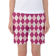 Plaid Pattern Women s Basketball Shorts by Valentinaart