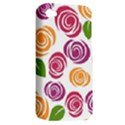 Colorful Seamless Floral Flowers Pattern Wallpaper Background Apple iPhone 4/4S Hardshell Case (PC+Silicone) View2