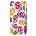 Colorful Seamless Floral Flowers Pattern Wallpaper Background Apple iPhone 4/4S Hardshell Case (PC+Silicone) View3