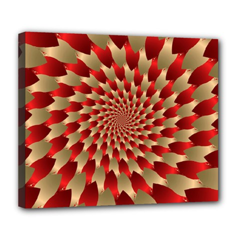 Fractal Red Petal Spiral Deluxe Canvas 24  X 20   by Amaryn4rt