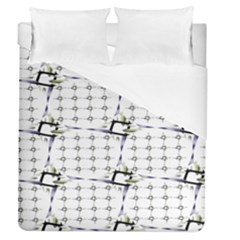 Fractal Design Pattern Duvet Cover (queen Size) by Amaryn4rt