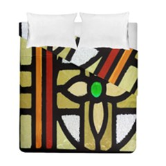 A Detail Of A Stained Glass Window Duvet Cover Double Side (full/ Double Size) by Amaryn4rt