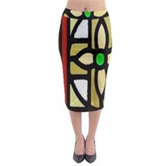 A Detail Of A Stained Glass Window Midi Pencil Skirt by Amaryn4rt