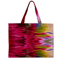 Abstract Pink Colorful Water Background Zipper Mini Tote Bag by Amaryn4rt