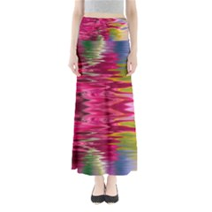 Abstract Pink Colorful Water Background Maxi Skirts