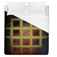 Drawing Of A Color Fractal Window Duvet Cover (queen Size) by Amaryn4rt