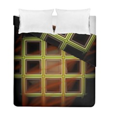 Drawing Of A Color Fractal Window Duvet Cover Double Side (full/ Double Size) by Amaryn4rt