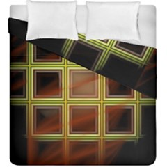 Drawing Of A Color Fractal Window Duvet Cover Double Side (king Size) by Amaryn4rt
