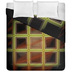 Drawing Of A Color Fractal Window Duvet Cover Double Side (california King Size) by Amaryn4rt