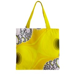 Fractal Abstract Background Zipper Grocery Tote Bag
