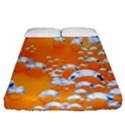 Bubbles Background Fitted Sheet (Queen Size) View1
