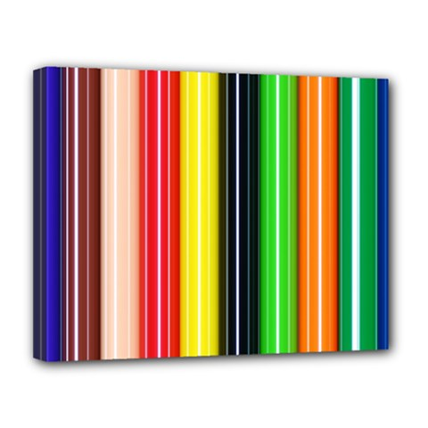 Colorful Striped Background Wallpaper Pattern Canvas 14  X 11  by Amaryn4rt
