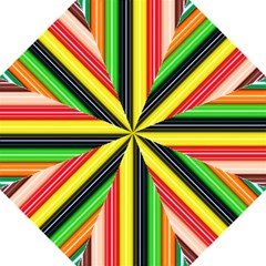 Colorful Striped Background Wallpaper Pattern Hook Handle Umbrellas (large) by Amaryn4rt