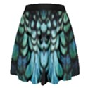 blue and green feather collier High Waist Skirt View2