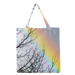 Rainbow Sky Spectrum Rainbow Colors Grocery Tote Bag by Amaryn4rt