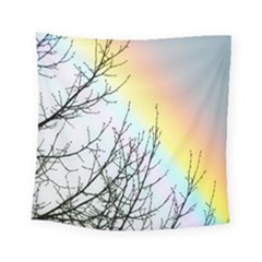 Rainbow Sky Spectrum Rainbow Colors Square Tapestry (small) by Amaryn4rt