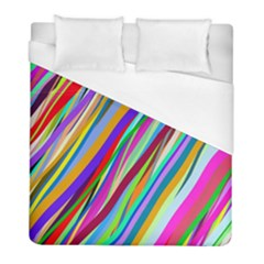 Multi Color Tangled Ribbons Background Wallpaper Duvet Cover (full/ Double Size) by Amaryn4rt