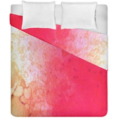 Abstract Red And Gold Ink Blot Gradient Duvet Cover Double Side (california King Size)