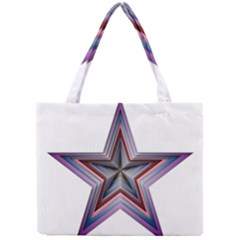 Star Abstract Geometric Art Mini Tote Bag by Amaryn4rt