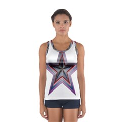 Star Abstract Geometric Art Women s Sport Tank Top  by Amaryn4rt
