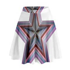 Star Abstract Geometric Art High Waist Skirt by Amaryn4rt